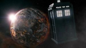 The TARDIS nears Trenzelore