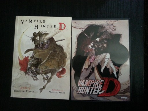 Vampire Hunter D Book and Movie