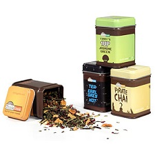 This collection of Adagio Teas from Think Geek are all heavily caffeinated and themed! Personally, I want to get my hands on a tin of Pirate Chai! (Image taken from ThinkGeek.com)