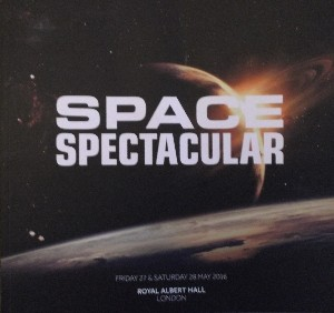 Space Spectacular programme cover