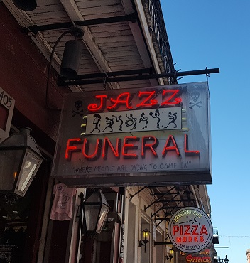 Jazz Funeral Sign